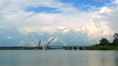 JK Bridge in Brasilia, Capital of Brazil Stock Footage