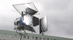 Lighting appliance in the open air Stock Footage