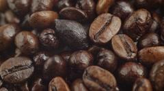 Macro Of Coffee Beans Stock Footage
