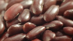 Red Haricot Beans. Close up slow panorama. Macro shot. Stock Footage