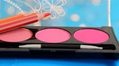Makeup - cosmetics - closeup 03 Stock Footage