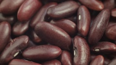Red Haricot Beans. Close up. Macro shot. Stock Footage
