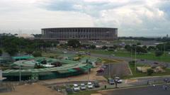 Mane Garrincha Stadium in Brasilia, Capital of Brazil Stock Footage