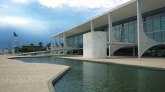 Planalto Palace in Brasilia, Capital of Brazil Stock Footage