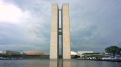 National Congress Building in Brasilia, Capital of Brazil - stock footage