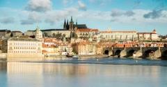 Praha morning Stock Footage