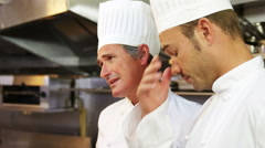 Chef having an argument - stock footage