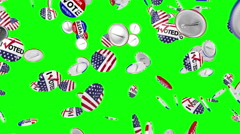 Voting pin dropping on the floor Stock Footage