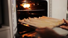 Traditional Italian Bread Making Stock Footage