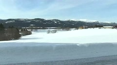 Norway, March 2016, Landscape Winter Area Houses Stock Footage