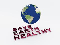Save Earth Healthy concept Stock Illustration