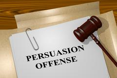 Persuasion Offense legal concept Stock Illustration