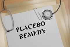 Placebo Remedy concept - stock illustration