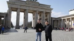 Kim Hong Un Impersonator in Berlin Stock Footage