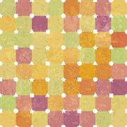 Retro colorful vintage vector background with white geometric shapes - stock illustration