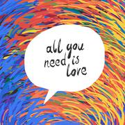 All You Need Is Love Poster - stock illustration