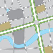 Road Map Illustration - stock illustration