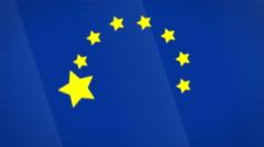 European Union Stylish Flag Transition Background Stock Footage