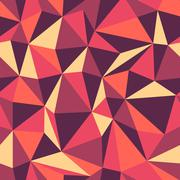 Retro Triangle seamless colorful pattern Stock Illustration