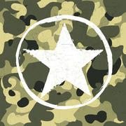 Military star on camouflage pattern Stock Illustration