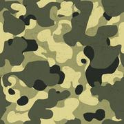 Military camouflage seamless pattern. Vector background with scratched aged t Stock Illustration