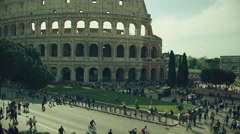 Coliseum of Rome vertical panning  video Stock Footage