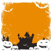Halloween themed background with space for text and isolated borders Stock Illustration