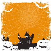 Halloween themed background with space for text Stock Illustration