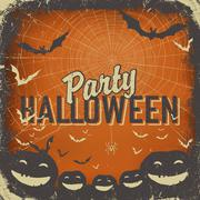 Halloween themed background with space for text - stock illustration