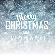 Falling Snow. Merry Christmas Background Stock Illustration