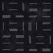 Geometric lines pattern on dark textured background. Retro monochrome style.  Stock Illustration
