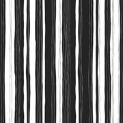 Abstract black and white stripes pattern. Seamless  hand-drawn lines vector d Stock Illustration