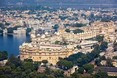 View of  City Palace. Udaipur, Rajasthan, India Stock Photos