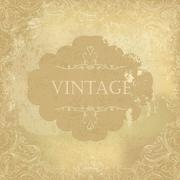 Aged vintage ornamental old paper background. Vector illustration - stock illustration