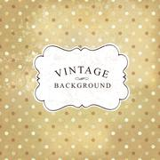 Aged vintage polka dot old paper background. Vector illustration - stock illustration