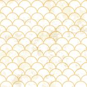 Blue asian fish scale retro pattern. Grunge and seamless. Grunge effects can  Stock Illustration