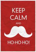 Stock Illustration of Keep Calm And Ho-Ho-Ho!