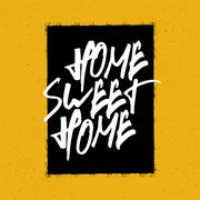 Home sweet home poster Stock Illustration