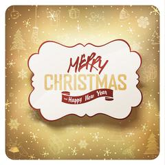 Merry Christmas Card, vector. - stock illustration