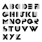 Stock Illustration of Wide decorative retro alphabet