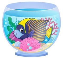 Stock Illustration of Aquarium topic image - eps10 vector illustration.