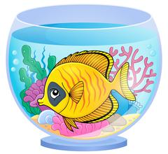 Aquarium topic image - eps10 vector illustration. - stock illustration