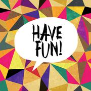 Have fun! Colorful aged triangles pattern. Grunge layers can be easy editable - stock illustration