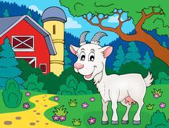 Goat theme image - eps10 vector illustration. Stock Illustration