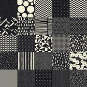 25 seamless different vector patterns. - stock illustration