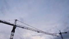 Tower Crane Time Lapse nomal - stock footage