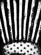 Monochrome Negative Photocopy American Flag Background. Grunge Aged VectorTem - stock illustration