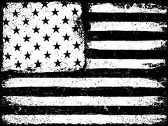 Stars and stripes. Monochrome Negative Photocopy American Flag Background. Gr Stock Illustration