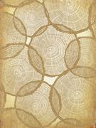 Aged Background with Tree Rings Pattern - stock illustration
