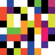 Square colorful background seamless. Vector pattern. Stock Illustration